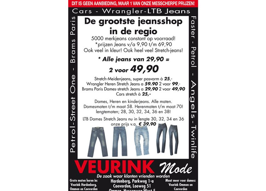 Jeansspecialist adv